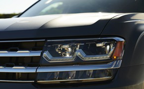 Picture headlight, the hood, Volkswagen, grille, Atlas, 2017, dark gray