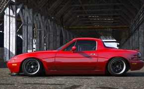 Picture Roadster, Mazda, Red, Car, MX-5