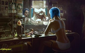 Picture Girl, The game, Art, Cyborg, CD Projekt RED, Cyberpunk 2077, Cyberpunk, Cyberpunk, Cyberpunk 2077, Cyborgs, …