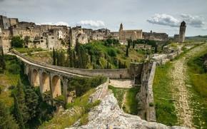 Picture bridge, Italy, panorama, Гравина-ин-Пулья