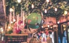 Picture bokeh, photo, globe
