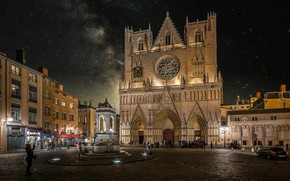 Picture France, area, Lyon, The Cathedral Saint-Jean