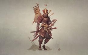 Picture Japan, Monster, Armor, Style, Warrior, Japan, Monster, Art, Art, Style, Warrior, Fiction, Fiction, Skeleton, Katana, …
