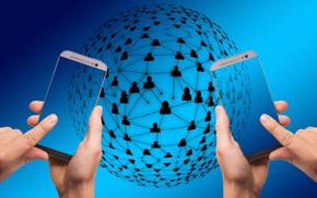Picture network, web, Internet, smartphones, world