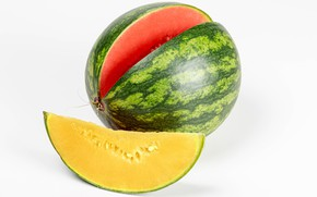 Picture yellow, watermelon, Watermelons