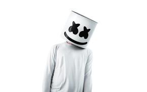 Picture Marshmello, people, marshmallow, mask, DJ