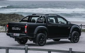 Picture black, the fence, pickup, Isuzu, D-Max, 2019, X-Rider Black
