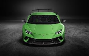 Picture Lamborghini, supercar, front view, Performante, Huracan