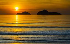 Picture sea, beach, summer, sunset, shore, summer, beach, sea, sunset, seascape, beautiful, paradise, tropical