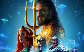 Picture sea, Amber Heard, Aquaman, Jason Momoa, Arthur, Princess Mera