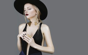 Picture style, model, hat, blonde, fashion