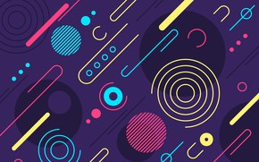 Wallpaper abstraction, texture, colorful, Abstract, background, rounded, shapes