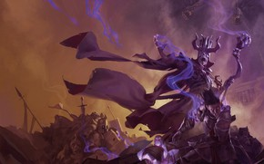 Picture warrior, MAG, male, Magic: The Gathering, Acererak the Archlich, Архилич