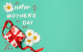 Picture flowers, happy, holiday, gift, Mother's Day
