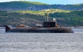Picture boat, underwater, atomic, Smolensk