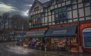 Picture the city, rain, England, Lymm