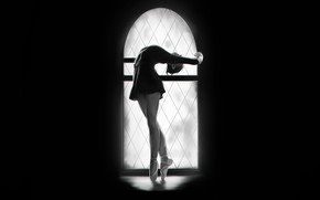 Picture Girl, Minimalism, Figure, Window, Dance, Background, Art, Ballerina, Francis Law, by Francis Law