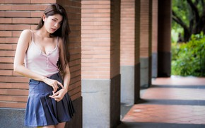 Picture girl, the city, Asian
