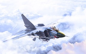 Picture The sky, Fighter, Wings, MiG, BBC, The MiG-23, Aviation, Flogger, MiG-23MLD, MiG-23MLD, The MiG-23, Render …