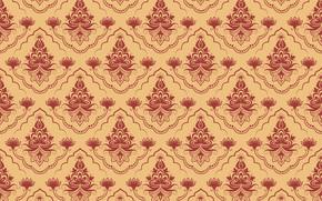 Picture retro, background, Flowers, texture, ornament, textiles, Vintage