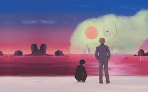 Picture landscape, sunset, cast, Mob Psycho 100, Kageyama Shigeo, Mob psycho 100, Arataka Reigate, Yacki