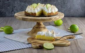 Picture pie, lime, meringue