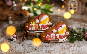 Picture background, Christmas, composition, gingerbread, Kukota Ekaterina