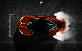 Picture Auto, The view from the top, Rendering, Supercar, Concept Art, Sports car, SuperSport, Transport & …