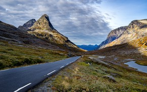 Picture road, mountains, Norway