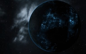 Picture space, eve online, plasma, planet