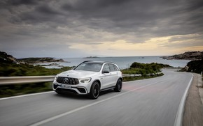 Picture Mercedes-Benz, track, crossover, GLC, Mercedes-AMG, 4Matic+, GLC 63S