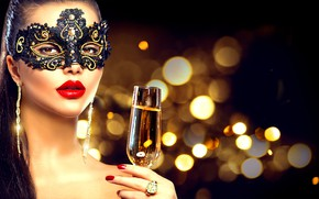Picture girl, style, hand, makeup, mask, ring, model, Anna Subbotina