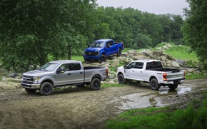 Picture white, blue, grey, Ford, Super Duty, F-350, F-250, Tremor, 2020, pickups, Off-Road Package, F-series