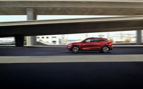 Picture speed, Mustang, Ford, side view, crossover, EU-Spec, 2020, electrocreaser, Mach-E