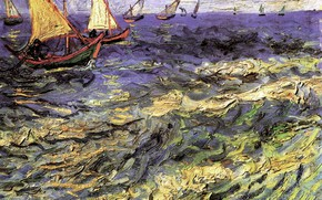 Picture Vincent van Gogh, Maries 2, Seascape at Saintes