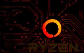 Picture background, track, logo, AMD, dark, Corn, Ryazan, Ryzen, RYZEN, Ryazhenka