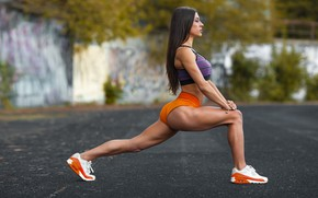 Picture sexy girl, exercise, sports, workout, fitness, hot babe, pilates, activewear
