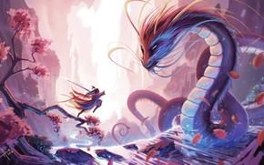 Picture China, Figure, Dragon, Warrior, China, Asia, Fantasy, Dragon, Art, Art, Warrior, Fiction, Illustration, Asia, Science ...