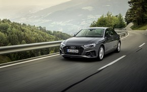 Picture Audi, the fence, sedan, Audi A4, 2019