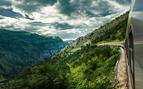 Picture landscape, mountains, clouds, nature, train, slope, Montenegro