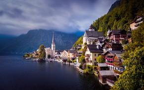 Picture water, lake, home, Austria, Austria, Hallstatt, Lake Hallstatt, Hallstatt, Lake Hallstatt, Hallstatt