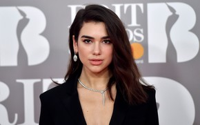 Picture decoration, earrings, brunette, singer, brown eyes, Dua Lipa, Dua Lipa