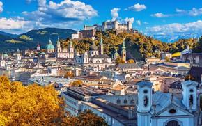 Picture mountains, home, Austria, panorama, Salzburg
