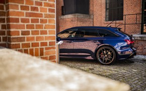 Picture Audi, Blue, Quattro, Before, RS6, Brink Wall