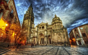 Picture the sky, HDR, the evening, area, Cathedral, Spain, Spain, Catedral de Santa Maria