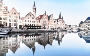 Picture water, home, Belgium, architecture, Ghent