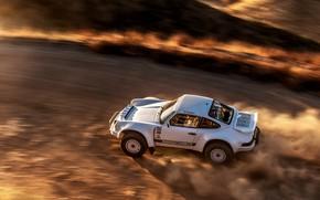 Picture speed, dust, 911, Porsche, 964, primer, 2019, 911 Baja Prototype, Russell Built Fabrication