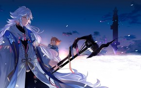Picture Fanart, Tower, Fate/Grand Order, Pixiv, Fanart From Pixiv, The battlefield, Merlin (Fate/stay night), Pixiv Id …