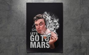 Picture Minimalism, Smoke, Cant, Poster, Rocket, Art, Elon Musk, Nozzle, Comic Art, by Big Bunny, Let's …