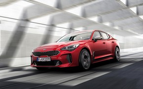 Picture red, speed, Kia, the five-door, Stinger, Stinger GT, fastback